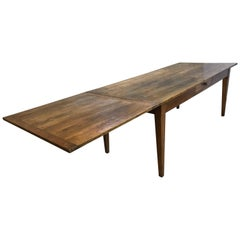 Beautiful Cherry Farmhouse Table with a Very Handy Slide for Extra Place Setting