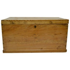 English Pine Trunk or Blanket Chest