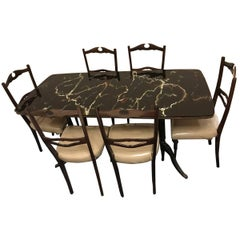Midcentury Dining Room Set, Paolo Buffa Style , Italy , Complimentary Shipping