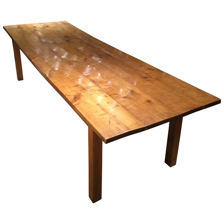 Long and Wide Cherrywood Farmhouse Table