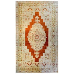 Amazing Vintage Turkish Oushak Rug