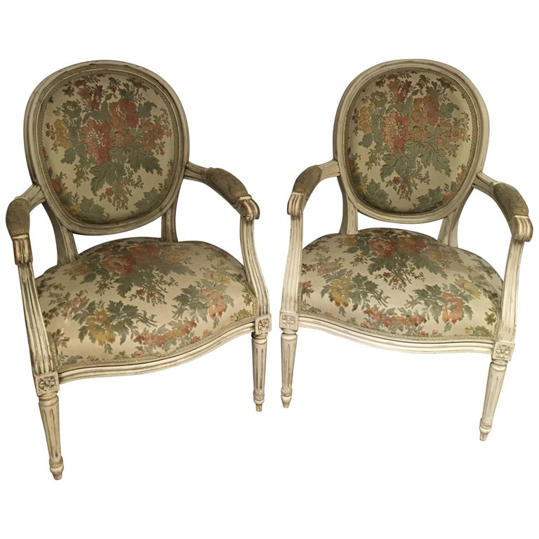 Pair of Salon Chairs - Pair Antique French Louis XV Salon Chairs At 1stdibs