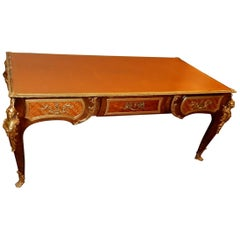 1880-1900 Flat Desk Napoléon III Has l Espagnolette in the Style of Cressent
