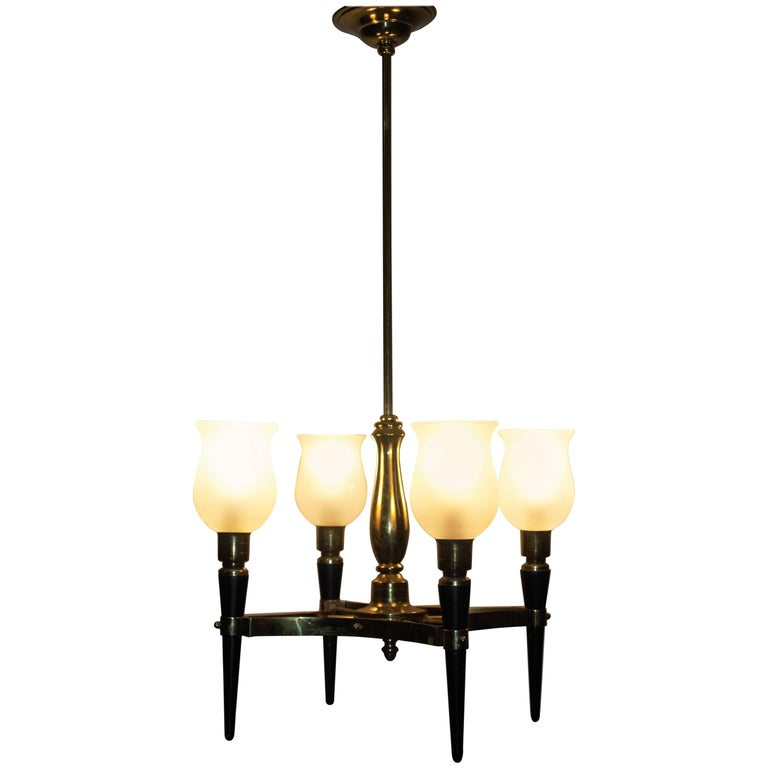 Four-Light Chandelier by Maison Jansen, France, circa 1950s