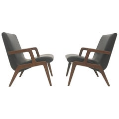 2 Midcentury Plywood easy chairs in the Style Cesare Lacca