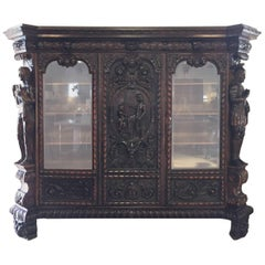 19th Century Black Forest Library Cabinet