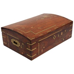 Antique British Colonial Domed Document Box