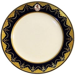 Set of Eight Minton Armorial Dinner Plates