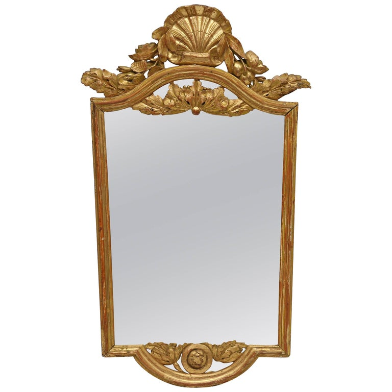 Neoclassical Gilt Console Mirror