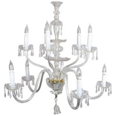 Oversized European Ten-Light Crystal Chandelier, 20th Century