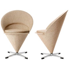 Pair of Verner Panton Cone Chairs, Denmark, 1958