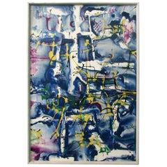 Abstract Oil and Acrylic Painting by Artist Lee Porzio, circa 1960s