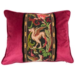 Tapestry Pillow Griffin Phoenix Red