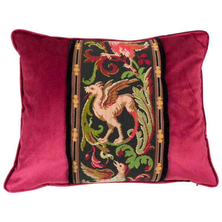 Tapestry Pillow Griffin Phoenix Red For Sale