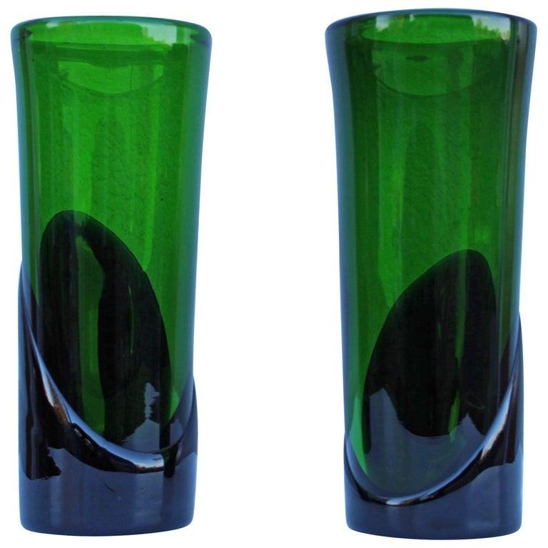 1950s Art Glass Italian Vases