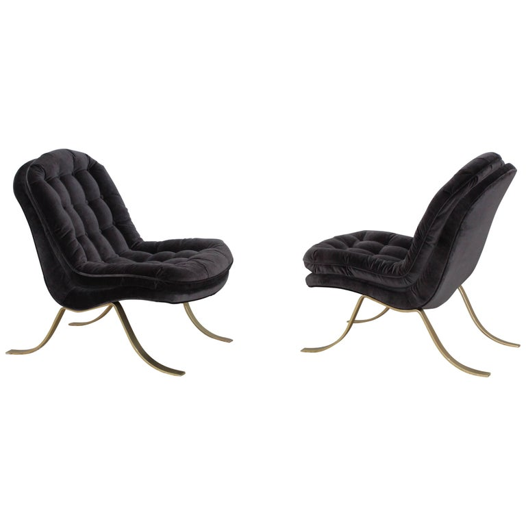 Mid-Century Modern Italian Slipper Chairs