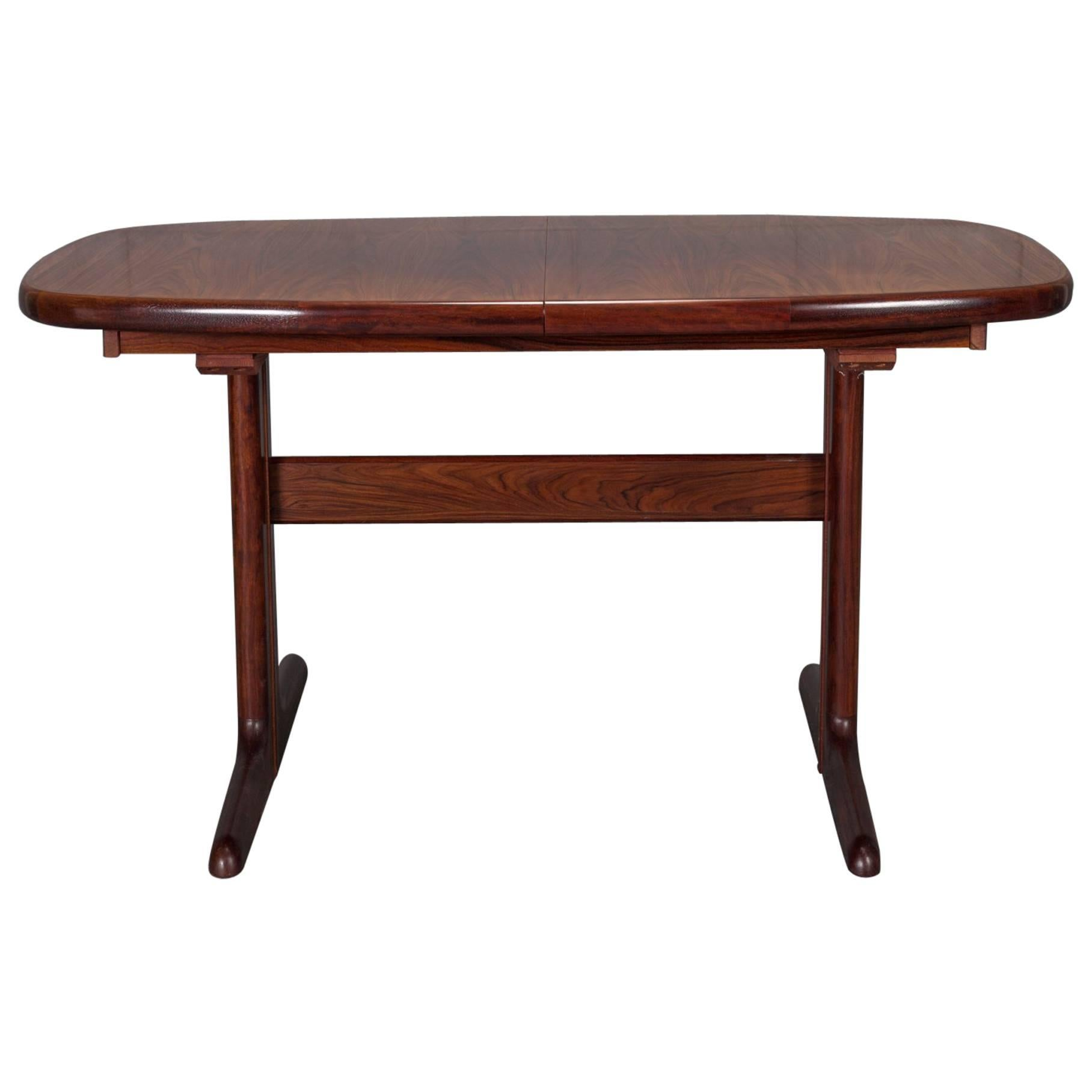 Modern Rosewood Dining Extension Table with Two Leaves by Dyrlund
