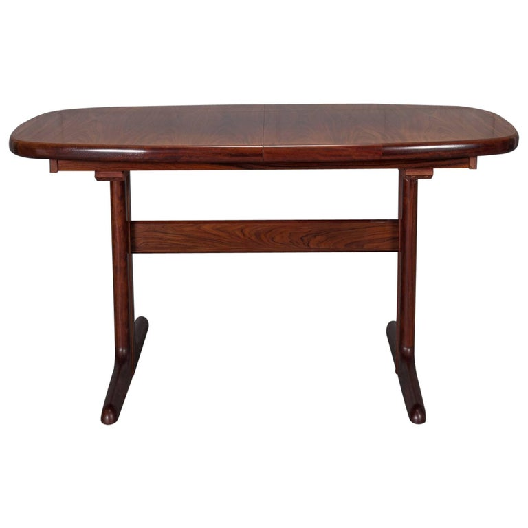 Modern Rosewood Dining Table With Hidden Leaves By Dyrlund