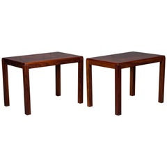 Pair of Danish Modern Rosewood Side Tables