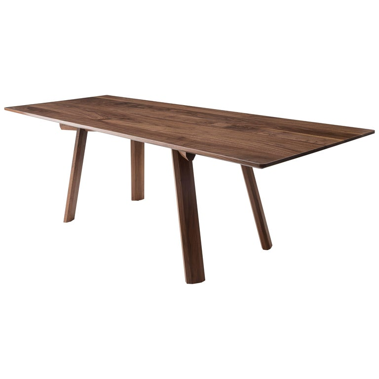 Ripley dining table solid walnut six eight person for for 6 person dining room table