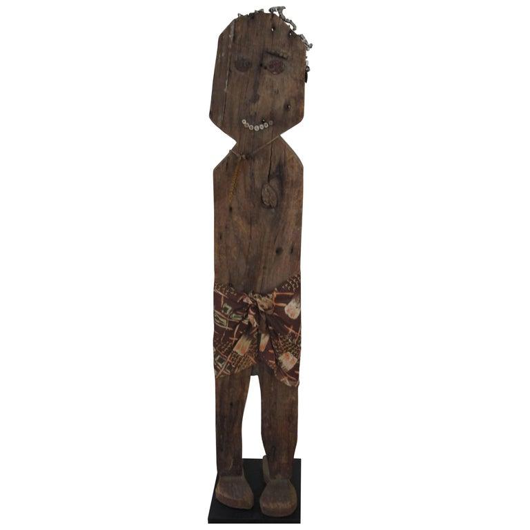 Wood Folk Art Figure For Sale