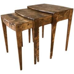 Rare Set of Heywood-Wakefield Maple Nesting Tables