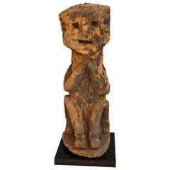 Wooden Ancestral Figure from West Nepal, Early to Mid 20th Century, Wooden Stand