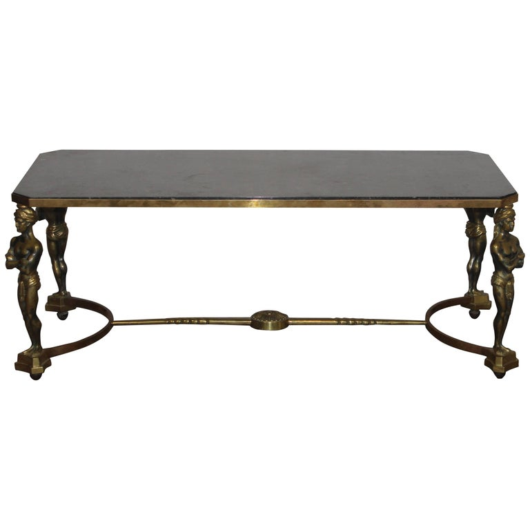 French Marble-Top Coffee Table