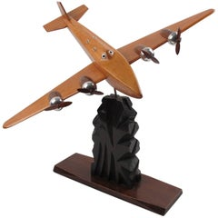 Art Bois Studio French Art Deco Wooden Airplane Model