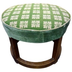 Canvas Ottoman from the 1930s