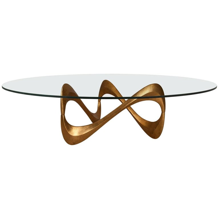 Enlaced Coffee Table in Oro Nero Finish For Sale