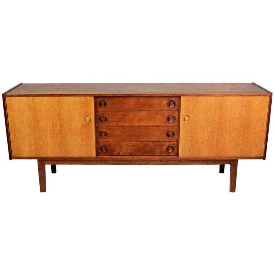 Vintage Oak Sideboard In Danish Style, 1970s