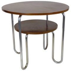 Midcentury Steel Tube Side Table, Bauhaus, Tubular
