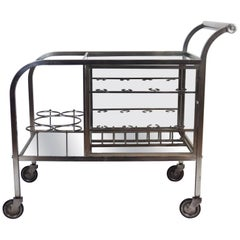 Art  Deco Serving Bar Cart Attributed to Jacques Adnet