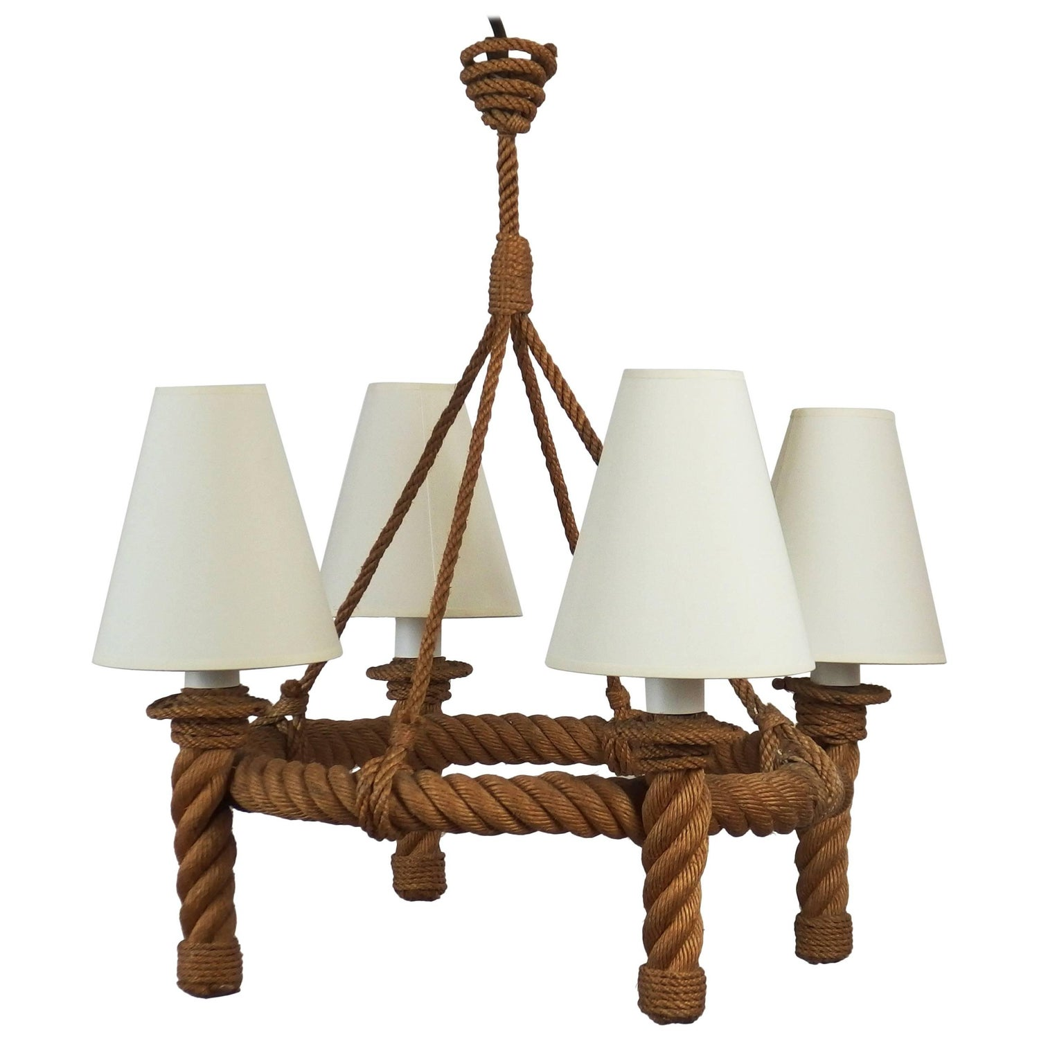 Rope chandelier by audoux minet for sale at 1stdibs arubaitofo Image collections