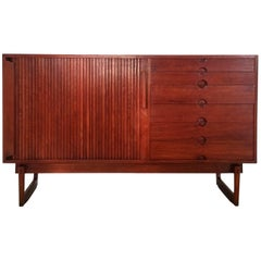 Midcentury Tambour Sideboard, Italy