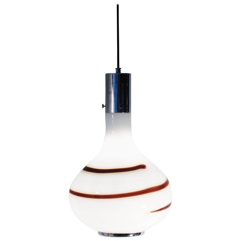 Murano Blown Glass Pendant Lamp, 1970