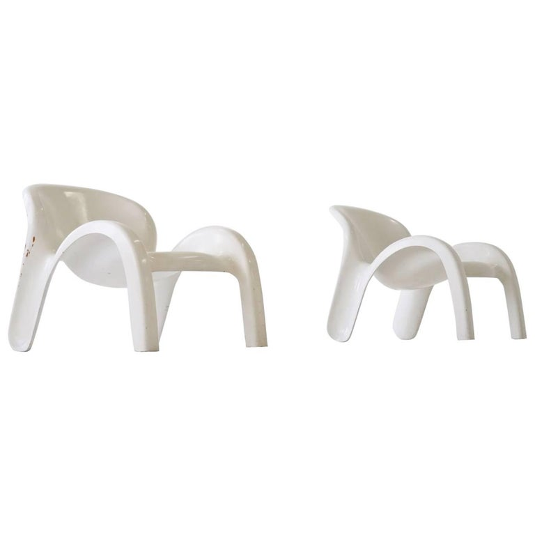 Set of Two Lounge Chairs GN2 by Peter Ghyczy for Reuter´s Form + Life Collection For Sale