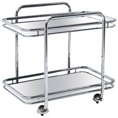 Tubular Stell Bar Cart, 20th Century