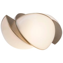 """Collision Lights"" Small Gold Galvanic and White Acrylic Table Lamp by L. Bohinc"