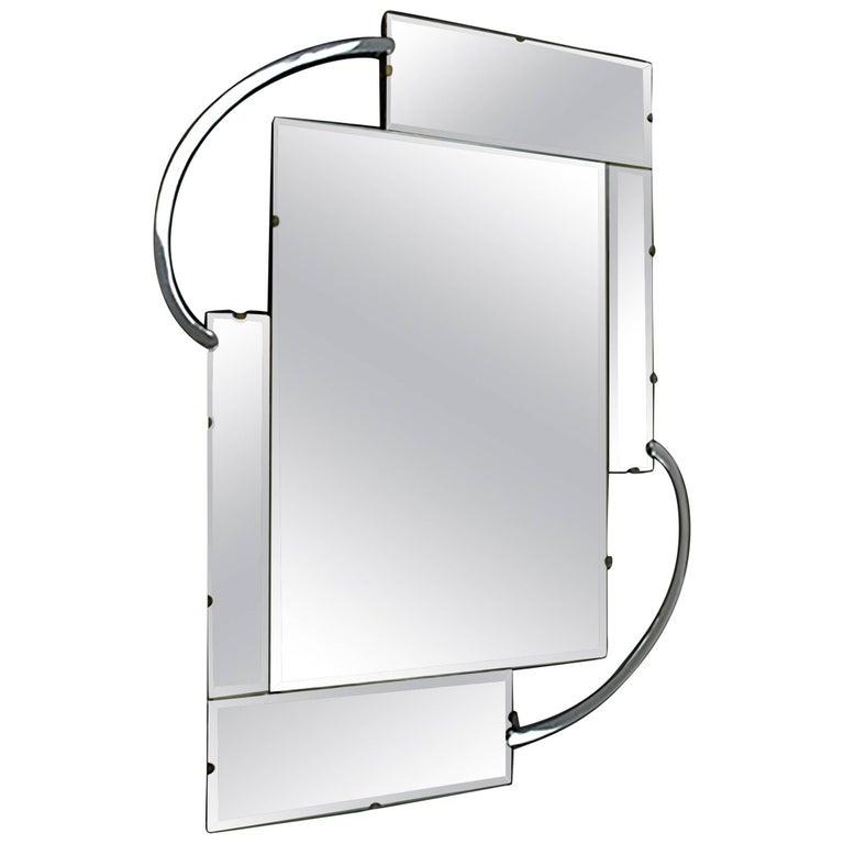 Original Modernist Style Wall Mirror, Art Deco, English, circa 1930