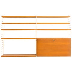 String Wall Unit with Desk Part of Nisse Strinning, 1960, Sweden