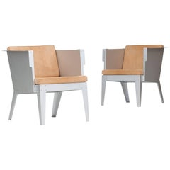 Pair of Armchairs, Aluminium Series by Piet Hein Eek