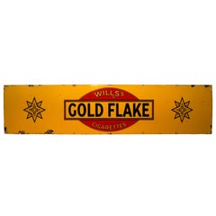 Wills Gold Flake Advertising Enamel Sign