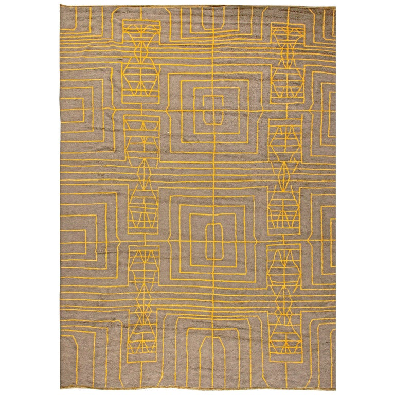 Oversized Hive A Modern Rug By Kim Alexandriuk For Sale
