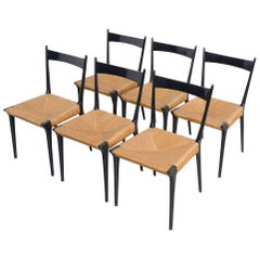 Set of Six Alfred Hendrickx S2 Dining Chairs