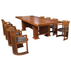 Frank Lloyd Wright Dining Table and Chairs