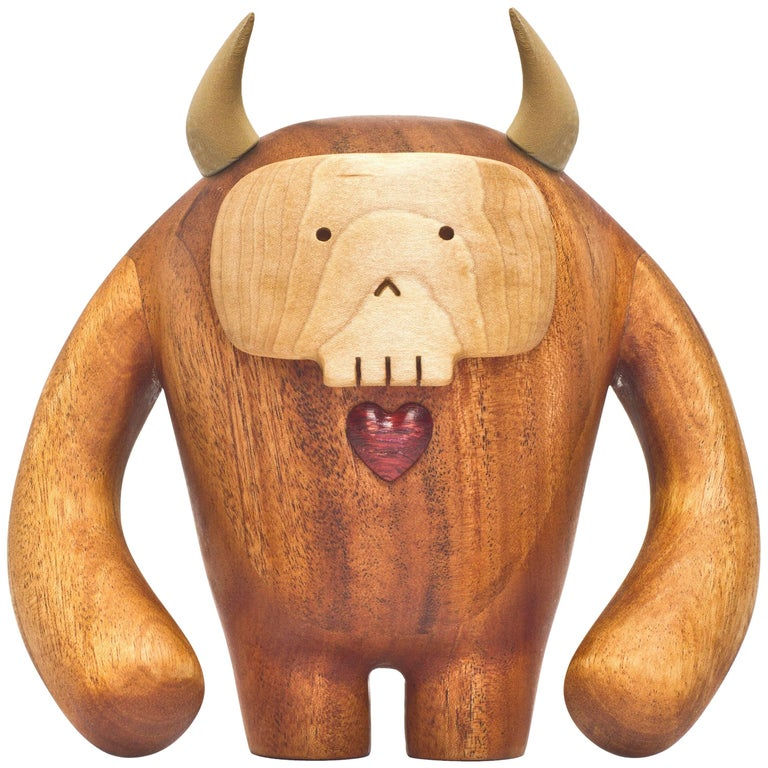 Hermanos Calavera, Jefe in Mahogany by Miguel and Ilse Silva for Wooda