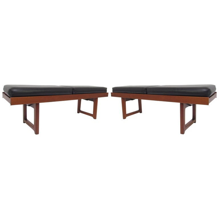 Pair of Danish Modern Teak Benches by Torbjørn Afdal for Bruksbo, circa 1960s
