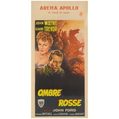 """Stagecoach / Ombre Rosse"" Original Italian Movie Poster"